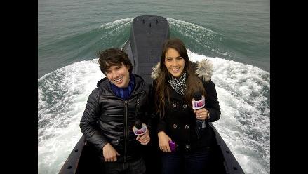 Bruno y Chiara Pinasco visitaron un submarino por primera vez