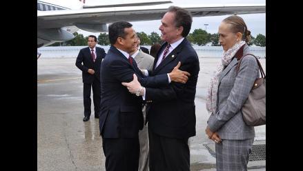 Presidente Humala llegó a Nueva York para Asamblea de la ONU