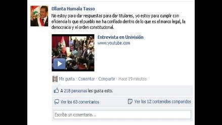 Presidente Humala: ´No estoy para dar respuestas para titulares´