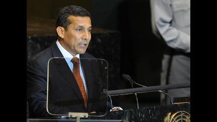 Ollanta Humala expuso ante la Asamblea General de las Naciones Unidas