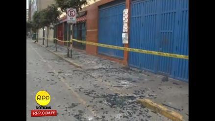 Explosión de gas en galería del Centro de Lima deja dos heridos
