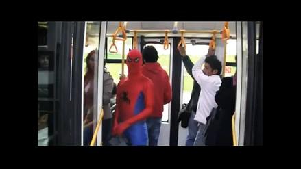 Hombre Araña peruano captado por videoaficionada en el Metropolitano