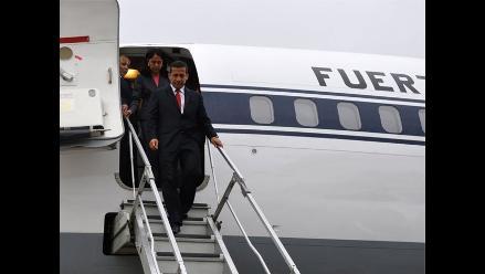 Presidente Humala llegó a Lima tras participar en asamblea de ONU