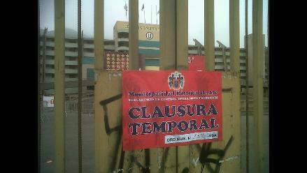 Estadio Monumental fue clausurado temporalmente por Municipalidad de Ate