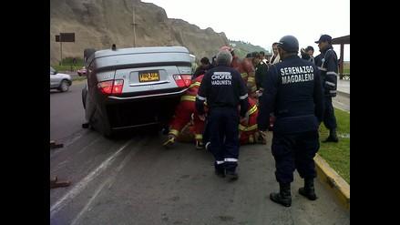Accidente de tránsito causó congestión vehicular en la Costa Verde