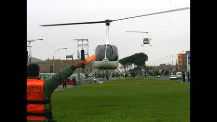 Callao explica el trabajo de sus nuevos helicópteros