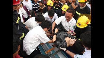 Ya son 271 los heridos por choque en Metro de Shanghái