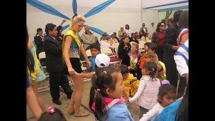 Trujillo: Reinas visitan a niños de cuna maternal Josefina Pinillos
