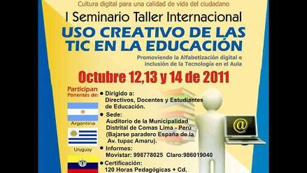I Seminario Internacional sobre uso creativo de las Tics en la Educación