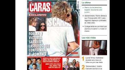 Futbolista Diego Forlán tiene nueva novia idéntica a su ex Zaira Nara