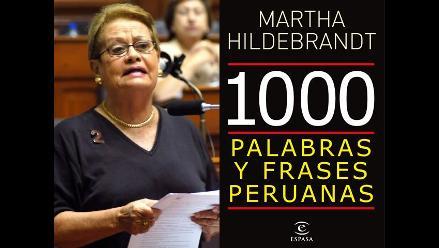 Martha Hildebrandt presenta su libro Mil palabras y frases peruanas