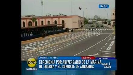 Ollanta Humala preside ceremonia por aniversario del Combate de Angamos