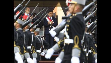 Humala recibió baño de popularidad tras ceremonia en el Callao