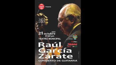 Garcia Zárate en el Teatro Municipal de Arequipa