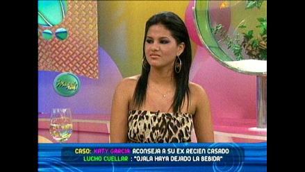 Katy García dice que no le dijo alcohólico a Lucho Cuellar
