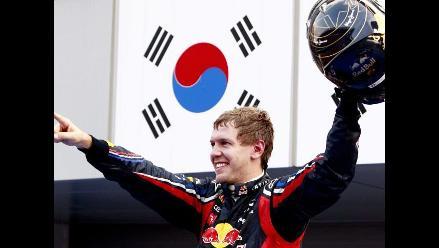 Sebastian Vettel triunfa en el Gran Premio de Corea de la Fórmula 1