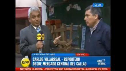 Frustran operación de limpieza en Mercado Central del Callao