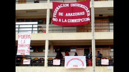 Amazonas: Continúa toma de la Universidad Toribio Rodriguez de Mendoza