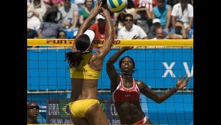 Imágenes del vóley playa femenino en los Juegos Panamericanos 2011