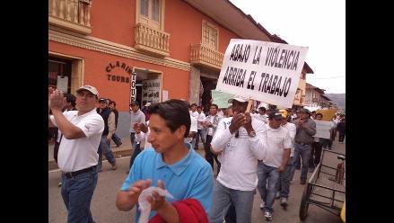 Cajamarca: Trabajadores mineros marchan contra la violencia