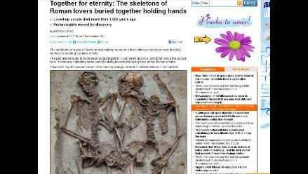 Hallan los esqueletos de amantes enterrados tomados de la mano