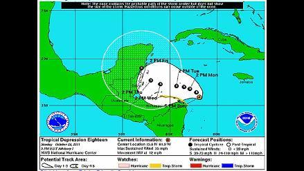Nace una depresión tropical en el Caribe que amenaza a Honduras