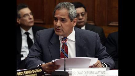 Fiscalía pide investigar penalmente a Omar Quezada por caso Cofopri