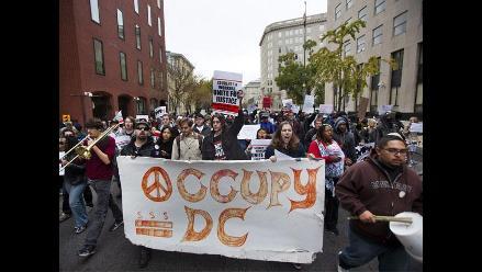 ´Indignados´ reclaman educación superior gratuita en Washington DC