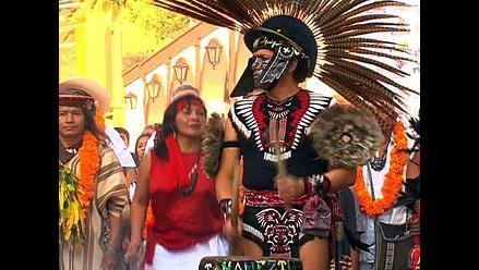 México: chamanes se reúnen en la ciudad prehispánica de Tepoztlán