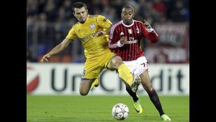 Milán empata con Bate y deja camino libre al Barcelona en Champions