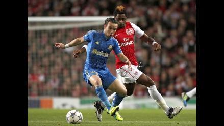 Arsenal iguala en casa ante Olympique de Marsella en Liga de Campeones