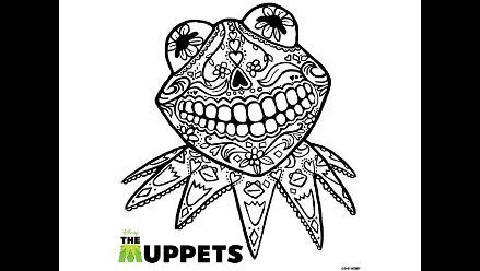 Kermit de Los Muppets celebra el Día de los Muertos