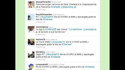 Caso Chehade sigue acaparando la atención de los tuiteros