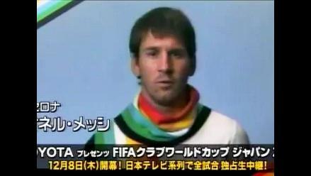 Lionel Messi habla japonés para promocionar el Mundial de Clubes