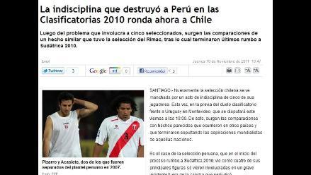 Prensa chilena compara su escándalo con el que vivió Perú en el 2007