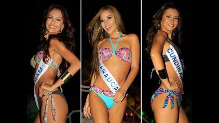 Candidatas a Miss Colombia realizan sexy desfile en trajes de baño