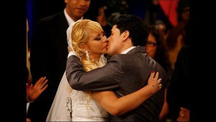 Susy Díaz y Andy V se juraron amor eterno en set de TV