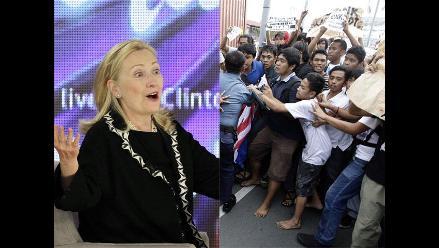Caravana de Clinton es atacada con huevos y pintura en Filipinas