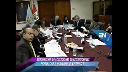 Chehade tiene cinco días para asistir a Acusaciones Constitucionales