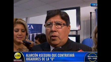 Alarcón señala que es posible que Alianza fiche a jugadores de la U