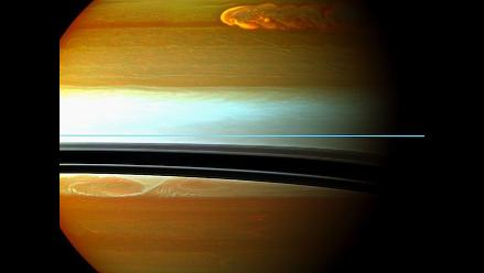 Registran inmensa tormenta que se extendió por 200 días en Saturno