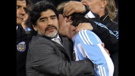 Lionel Messi brindó sus condolencias a Diego Maradona