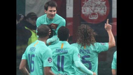 Así derrotó el Barcelona al AC Milan por la Liga de Campeones