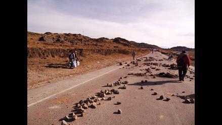 Cajamarca: Manifestantes bloquean carreteras hacia Bambamarca y Otuzco