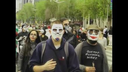 Muertos marcharon contra la violencia y el crimen en Ciudad de México