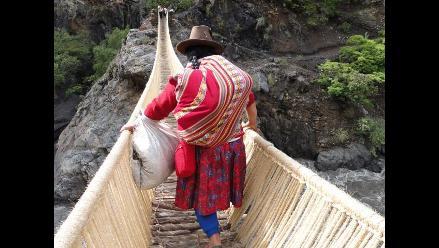 Llama y Yauya, distritos unidos por un puente inca en Áncash