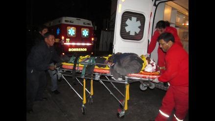 Arequipa: Accidente de tránsito deja dos heridos en Tiabaya