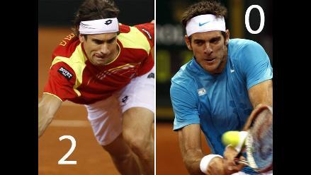 Ferrer ganó a Del Potro y España suma segundo punto en Copa Davis