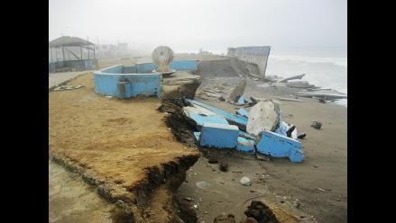 Trujillo: Erosión costera sigue destruyendo balneario de Buenos Aires