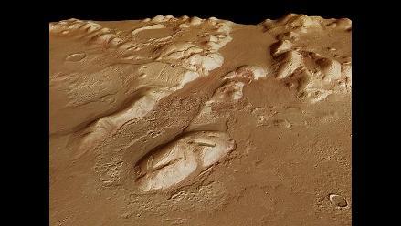 Imágenes revelan la existencia de cantidades de agua oculta en Marte